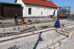 Stavba vagonového depa 2017